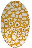 rug #595673 | oval light-orange animal rug