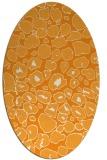 rug #595681   oval light-orange circles rug