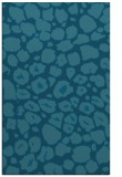 rug #595737 |  blue-green circles rug