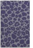 rug #595777    blue-violet animal rug