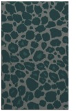 rug #595817 |  blue-green circles rug