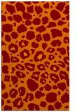 rug #595877 |  orange animal rug