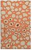 rug #595885 |  orange circles rug