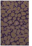 rug #595921 |  mid-brown circles rug