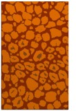 rug #595945 |  red-orange circles rug