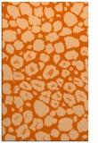 rug #595949 |  red-orange circles rug