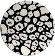 rug #596045 | round white rug