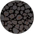 rug #596049 | round black circles rug