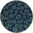 rug #596073   round blue animal rug