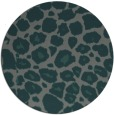 rug #596169 | round blue-green animal rug