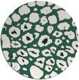 rug #596173 | round green circles rug