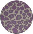 rug #596221 | round beige animal rug