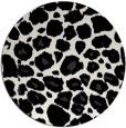 rug #596313 | round white animal rug