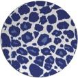 rug #596321 | round blue animal rug