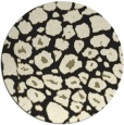 rug #596349   round black circles rug