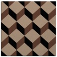 rug #596761 | square brown retro rug