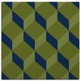 rug #596781 | square green retro rug