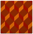 rug #596989 | square orange retro rug