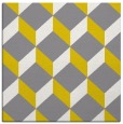rug #597045 | square yellow retro rug
