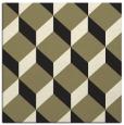 rug #597053 | square black retro rug