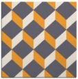 rug #597093 | square white retro rug