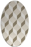 rug #597097 | oval beige retro rug