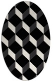 rug #597104 | oval retro rug