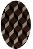 rug #597109 | oval black retro rug