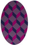 rug #597125 | oval pink retro rug