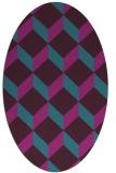 rug #597161   oval pink retro rug