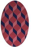 rug #597189 | oval blue-violet rug
