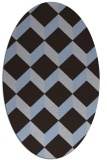 rug #597209 | oval blue-violet retro rug