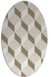 rug #597237 | oval white retro rug