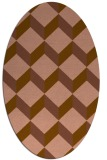 rug #597241 | oval brown retro rug