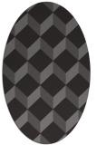 rug #597245 | oval mid-brown retro rug