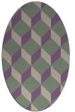 rug #597277 | oval purple retro rug