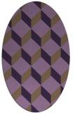 rug #597329   oval purple rug