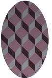 rug #597333 | oval purple rug