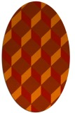 rug #597341 | oval orange retro rug