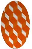 rug #597365 | oval red-orange rug