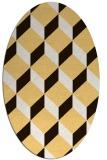 rug #597393 | oval brown retro rug