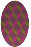 rug #597425 | oval light-green popular rug