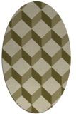 rug #597429 | oval light-green rug