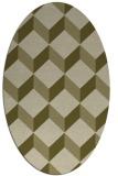 rug #597430   oval retro rug