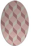 rug #597437 | oval pink popular rug