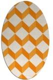 rug #597441   oval light-orange retro rug