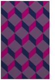 rug #597477 |  pink retro rug
