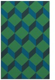 rug #597529 |  blue-green retro rug