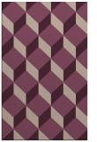 rug #597605 |  pink retro rug