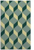 rug #597653 |  yellow retro rug
